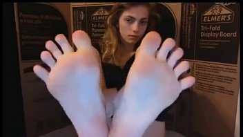 sexy teen showing soft porn amazing feet on cam