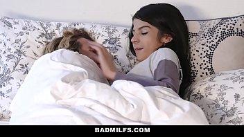 badmilfs - sheena ryder shares stepsons cock with petite gir sex teen sadie pop