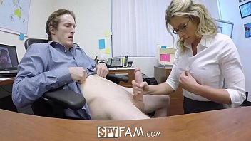 spyfam mfuq com step son office anal fuck with step mom cory chase at work