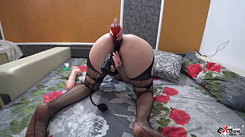 brunette sexi movie sensual play pussy dildo and vibrator - double penetration