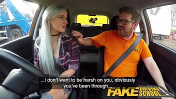 fake driving xxx vidio school busty goth learner in anal and sex toys lesson finale