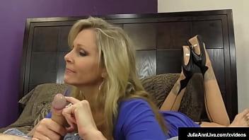 busty dominating milf xxx school  com ms. julia ann tells her hard hubby he can t cum