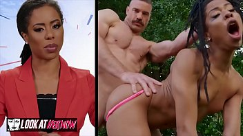 small muslim xxx tit ebony kira noir gets pounded outdoors - look at her now