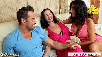 brunettes tara holiday girl seduces man and veronica avluv sharing cock