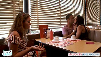 cutie sex without dress gracie glam gets facialized in foursome