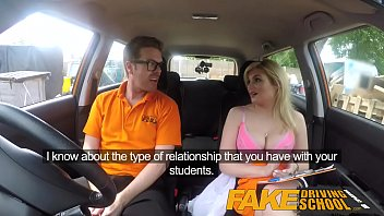 fake driving school mobile xshare com posh horny busty examiner swallows a big load