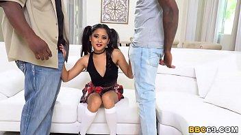 sexx vedio com violet rae s first interracial scene with big black dicks