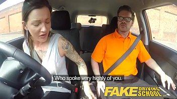fake driving school messy creampie pornxxxx advanced lesson for tattooed thot