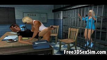 two sexy 3d cartoon babes sibling porn fucked in a jail cell