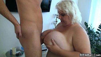tube8japan huge blonde gives a titjob