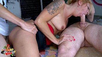 hot boob kiss blonde milf hard fucking and double penetration