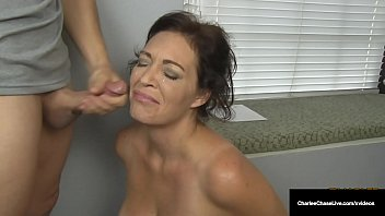 sexxxxx husband s employer gets milf charlee chase to suck his cock