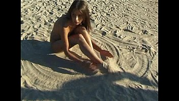 beautiful fresh faced teen www sunny leone sex image com plays at the beach nude