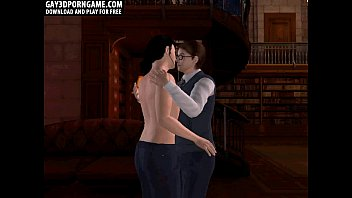 horny sexy naked anime girls 3d cartoon hunk gets fucked in the library
