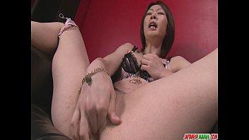 rio kagawa fucks herself with mom fuking a big vibrator