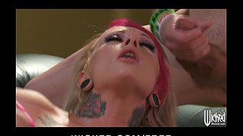 tattooed punk chick jessie lee takes on xxxsunny leone com two cocks at once