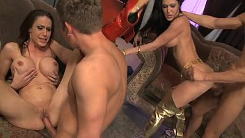 foursome in the short sex video family room