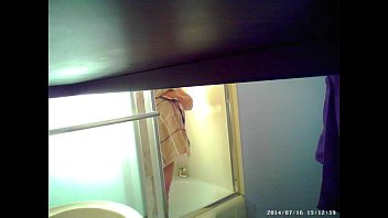 son sets up spycam in shower to see ganda bf mom s huge tits