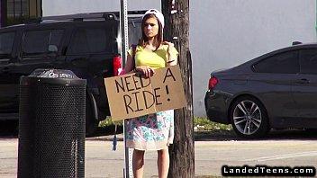 teen hitchhiker fucks huge xxxf dick outdoor pov