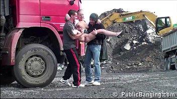 www badmasti com hd cute teen girl public sex construction site gangbang threesome