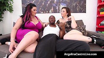 cuban queen school teacher xxx angelina castro and sara jay blow a big black dick