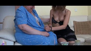 old busty granny playing with xxx bp skinny girl