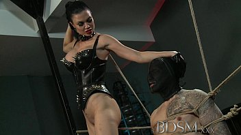 bdsm xxx slave boy gets tied up sex vidoes and receives more than he bargained