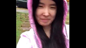 asian teen publicly reveals xxxxxxxxxx herself in the rain