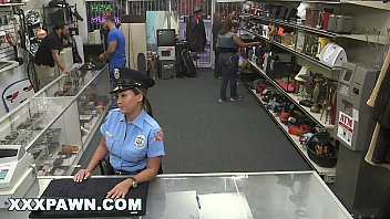 xxx pawn 3gpsex video - pervy pawn shop owner fucks latin police officer