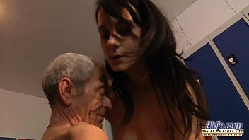 lady sex videos young girl is so kinky that fucks an old fart in a locker room