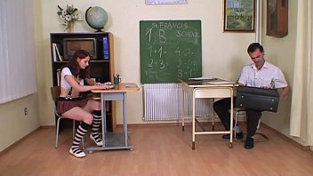 sexe live strict teacher punishes and bangs a schoolgirl