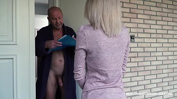 old grandpa youtube hot porn gets horny and fucks the delivery girl