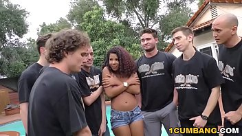zoey reyes gives blowjob to a group of horny super hot girls nude white men