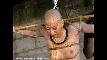 bizarre asian humiliation of kumimonster in dungeon bondage and messy bang my dr com feather an