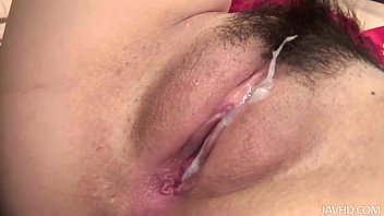 rinka kukago com in red stockings takes on a hairy ballsack