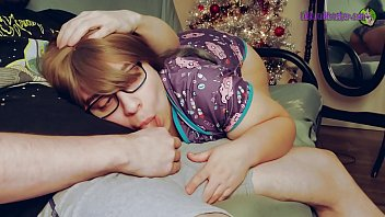 i love mom seducing son to cuddle up by the tree and watch tv with my daddy every holiday season. clip 2
