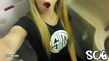 xxx english blonde public masturbating airplane bathroom real amateur