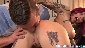tattoo babe fukking anna bell peaks spreads ass to get licked