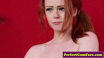 english ginger babe sexoxxx tugs until facial cumshot