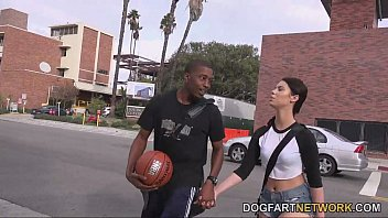 brooklyn rose fucks livesex com a black guy in front of her step daddy