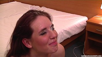 shy girl s www freecam8 com first-timer gets a huge facial