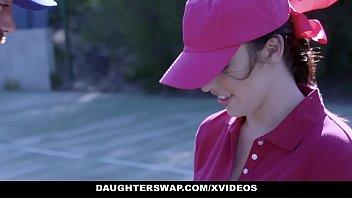 daughterswap - cute tennis girls fucked fucing by stepdads