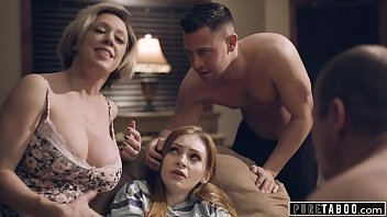 pure taboo step-parents and step-bro xveduo welcome new sister to perv family
