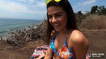 real teens - hot latina teen gets chinasex fucked on the cliffs of southern california