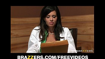 big-tit brunette doctor fri sex uses her patient for a sexy threesome
