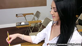 innocenthigh college student schoolgirls com sabrina banks ass licked and fucked in classroom