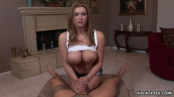 chick with big tits enjoys wife forced blowjob playing with a hard cock