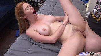 milf trip china pussy - sexy redheaded milf gets her hairy pussy slammed