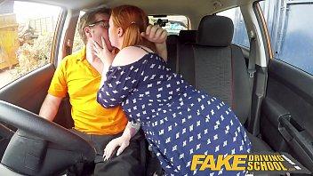 fake sex vidio driving school voluptuous redhead fucks in car