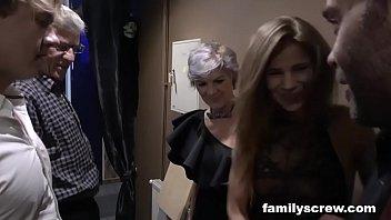 horny pornxxx family visits swingers club